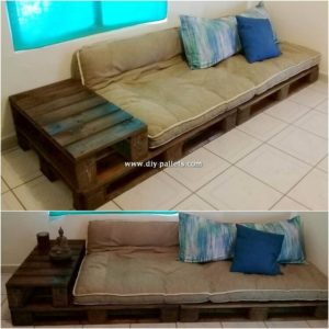 Pallet Daybed with Side Table