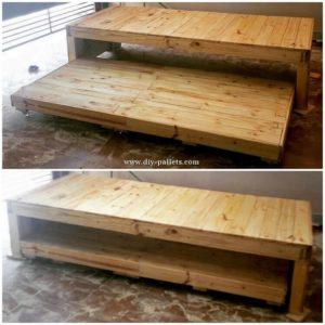 Pallet Double Bunk Bed