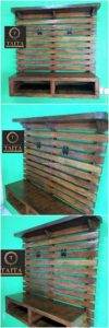 Wooden Pallet Wall LED Holder