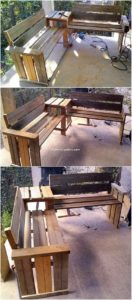 Pallet Benches with Center Table