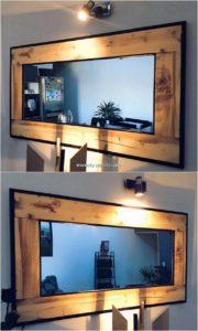 Pallet Mirror Frame