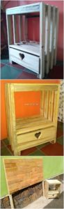 Pallet Side Table and Headboard