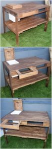 Pallet Table with Drawer