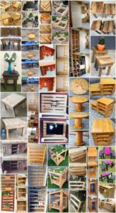 Stunning DIY Projects with Scraped Wood Pallets