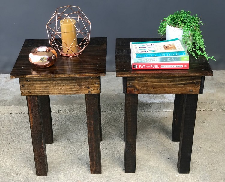 Wooden Pallet Side Tables
