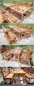 Pallet Garden Benches and Table