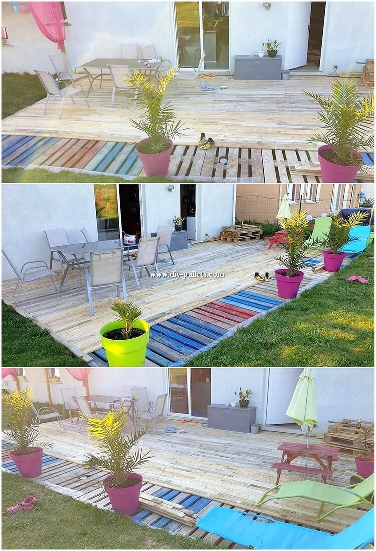 Wood Pallet Garden Terrace
