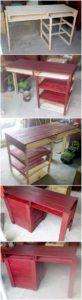 DIY Pallet Desk Table