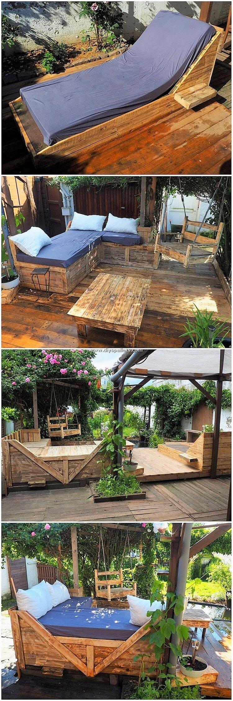 Pallet Garden Terrace with Furniture