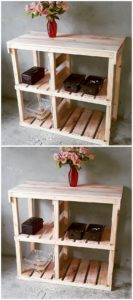Wooden Pallet Table with Shoe Rack