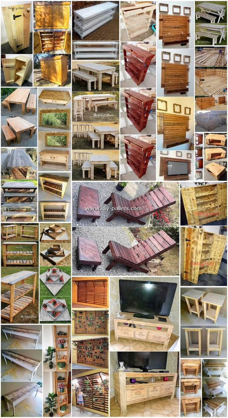 Easy to Make Shipping Wooden Pallets DIY Projects