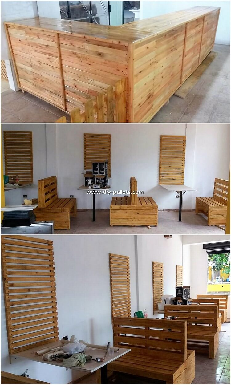 Pallet Counter Table and Furniture