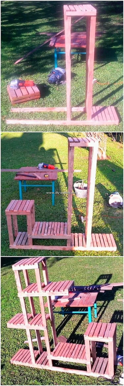 DIY Pallet Pots Stand