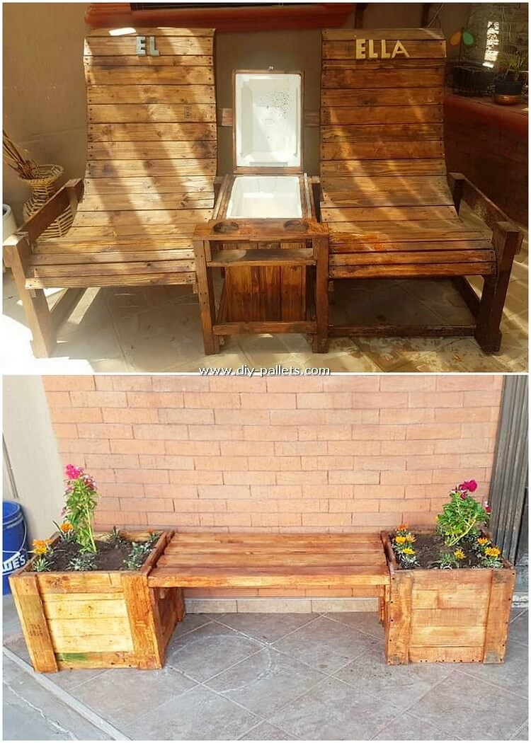 Pallet Chairs and Bench