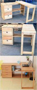 Pallet Corner Desk Table
