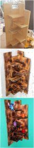 Pallet Corner Wall Shelf