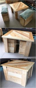 Pallet Table and Seats