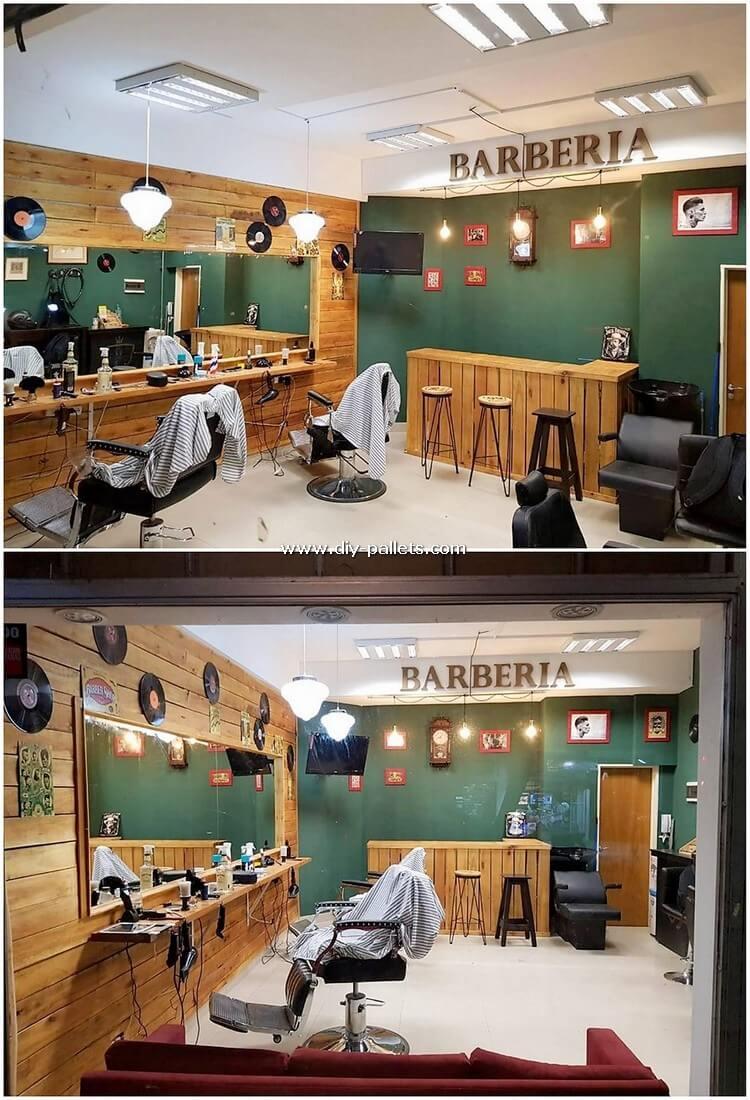 Pallet Hair Saloon Furniutre