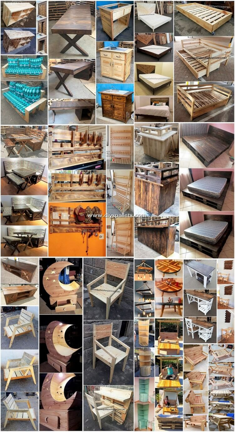 Inventive DIY Furniture Projects Made with Old Pallets