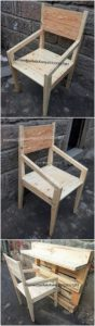 Pallet Chair and Desk Table