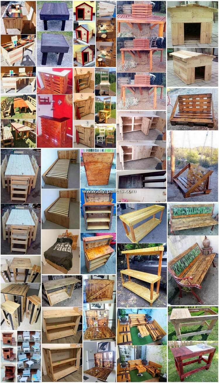 Terrific DIY Creations Made Out of Shipping Pallets